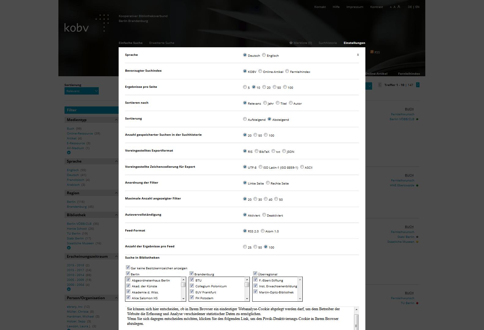 KOBV-Portal_Einstellungen